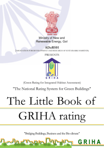 The little Book of GRIHA rating