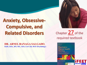 Anxiety, Obsessive-Compulsive, and Related Disorders