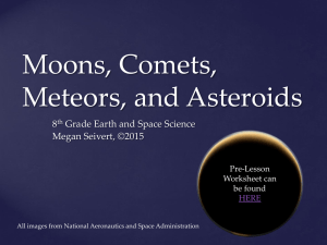 Moons, Comets, Meteors, and Asteroids PowerPoint