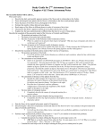 Study Guide for 1ST Astronomy Exam
