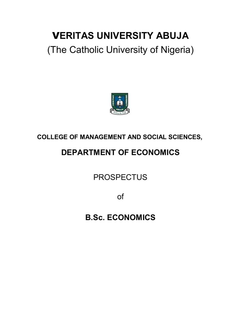 Prospectus - Veritas University Abuja