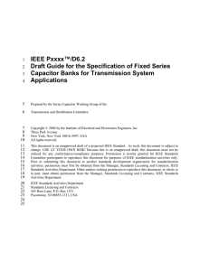 IEEE Draft Guide for the Specification of Fixed Series Capacitor