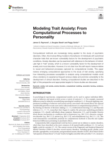 Modeling Trait Anxiety: From Computational Processes to Personality