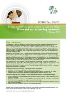 Entry and exit screening measures - ECDC
