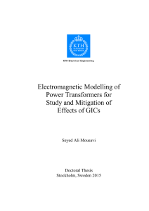 Electromagnetic Modelling of Power Transformers for Study