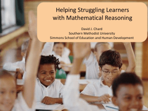 Helping Struggling Readers with Mathematical Reasoning