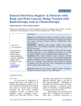 Enteral Nutrition Support in Patients with Head and Neck Cancers