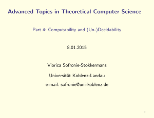 Advanced Topics in Theoretical Computer Science