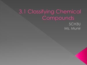 3.1 Classifying Chemical Compounds