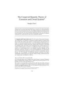 The Conserved Quantity Theory of Causation and Closed Systems*