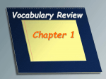 Vocabulary Review - Standards Aligned System