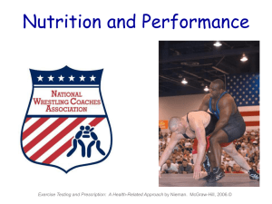 Nutrition and Performance for Wrestling