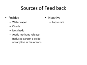 Sources of Feed back
