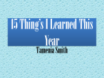 15 Thing*s I Learned This Year