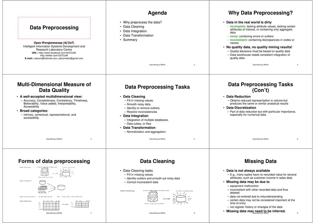 Microsoft PowerPoint - Week#03 - Data Preprocessing ppt