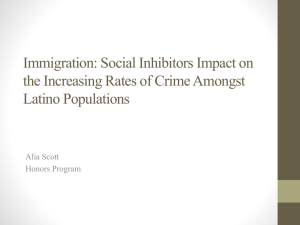 Immigration: Social Inhibitors Impact on the Increasing Rates of