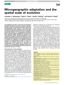 Microgeographic adaptation and the spatial scale of evolution