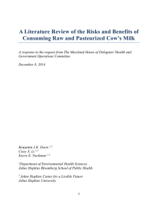 A Literature Review of the Risks and Benefits of Consuming Raw