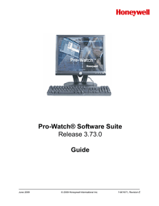 Pro-Watch Software Suite 3.73 Guide