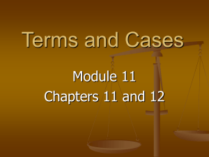 Terms and Cases