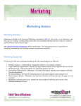 Marketing Basics - Ron R. Kelleher