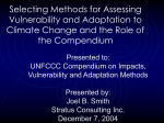 J. Smith - Selecting Methods for Assessing Vulnerability and