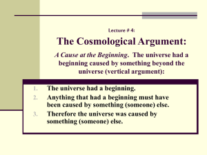 Arguments for God`s Existence