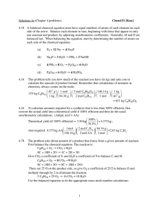 1 Solutions 4a (Chapter 4 problems) Chem151 [Kua]