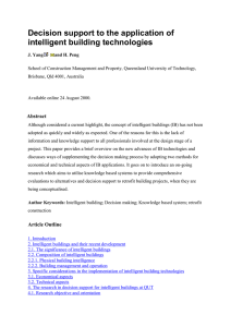 Decision support to the application of intelligent building technologies
