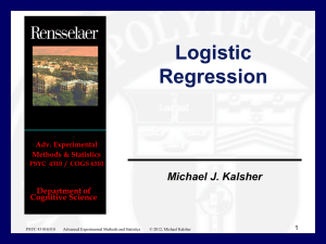 Logistic Regression - Michael Kalsher Home