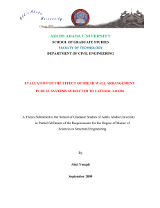 EVALUATION OF THE EFFECT OF SHEAR WALL ARRANGEMENT
