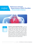 Pulmonary Arterial Hypertension (PAH) Checklist