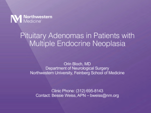 Pituitary Adenomas in Patients with Multiple Endocrine Neoplasia