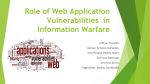 Role of Web Application Vulnerabilities in Information