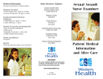 Sexual Assault Nurse Examiner Patient Medical Information and