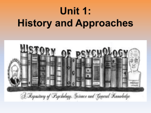 Unit 1 History and Approaches 2017