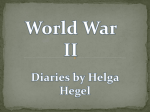 World War II Diaries by Helga Hegel
