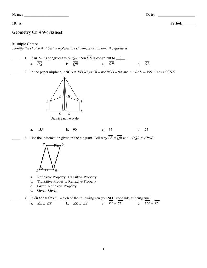 Worksheets Proving Triangles Congruent Worksheet chapter 4 worksheet