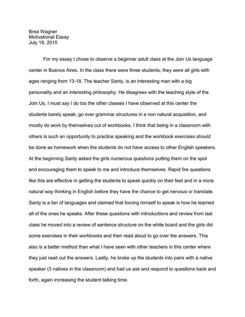 why i chose to be a teacher essay