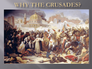 The Crusades - Saint Michael Parish