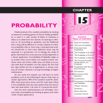 Chapter 15 Probability - Huntington Union Free School District
