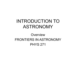 introduction to astronomy phys 271