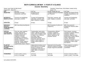 MATH CURRICULUM MAP: A YEAR AT A GLANCE Course: Geometry
