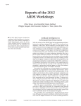 Reports of the 2012 AIIDE Workshops