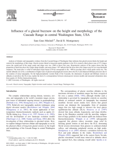 Influence of a glacial buzzsaw on the height and morphology of the