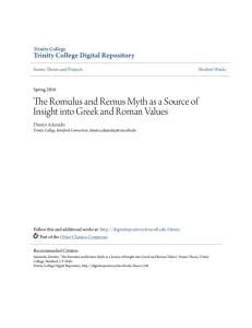 The Romulus and Remus Myth as a Source of Insight into Greek and