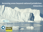 Accessing areas beyond national jurisdiction: Antarctica