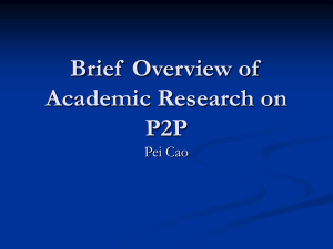 Brief Overview of Academic Research on P2P