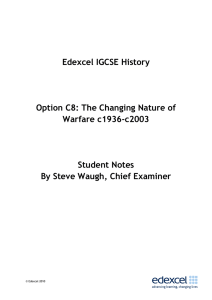 Edexcel IGCSE History Option C8: The Changing Nature