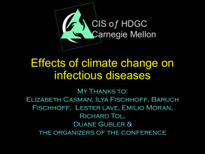 Effects of climate change on infectious diseases
